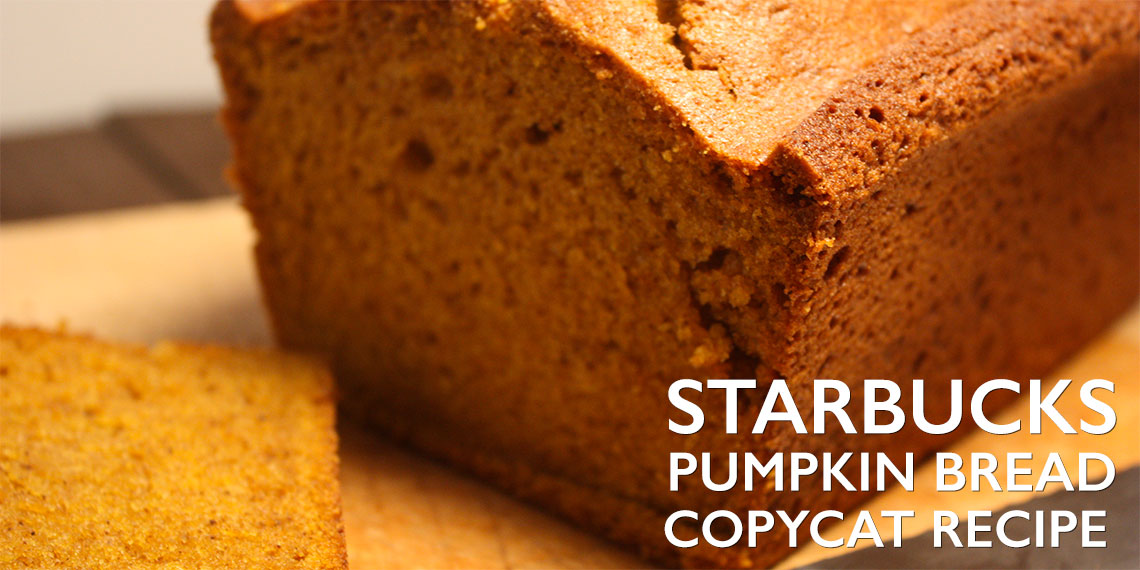 Starbucks Pumpkin Bread Recipe Copycat - Better than Starbucks! Moist, tender, and loaded with pumpkin fall flavors.