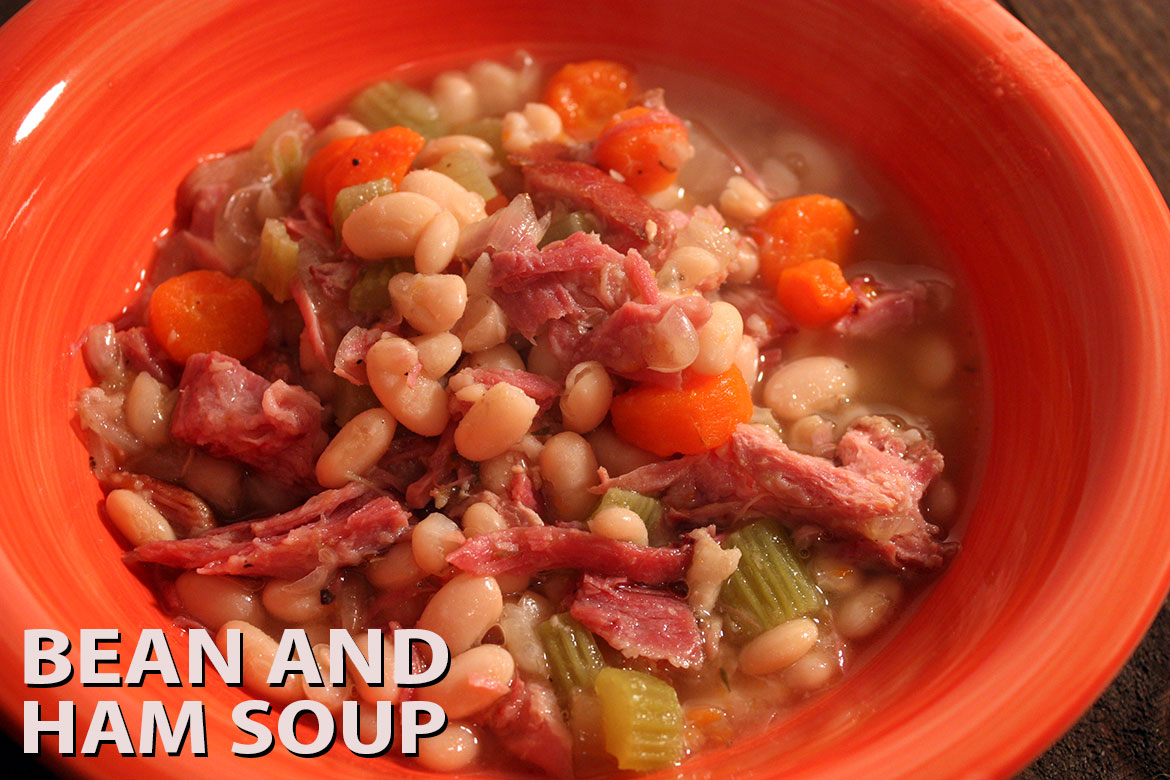 Crockpot Bean & Ham Soup shared by Don't Sweat the Recipe