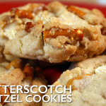 Butterscotch Pretzel Chip Cookies - Oh my, are these cookies addictive! Satisfy your salty-sweet obsession with these perfectly crunchy cookies!