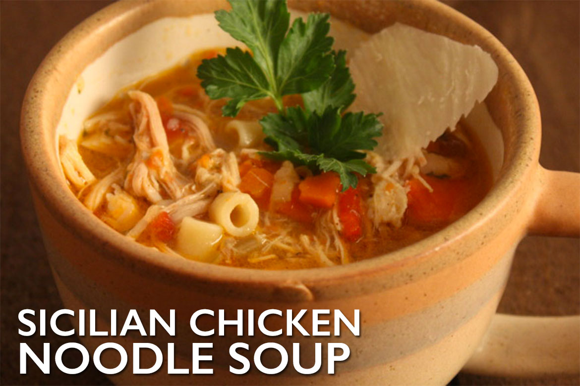 Sicilian Chicken Noodle Soup - The most flavorful chicken noodle soup you will ever eat! Simple, comforting and soul-feeding.