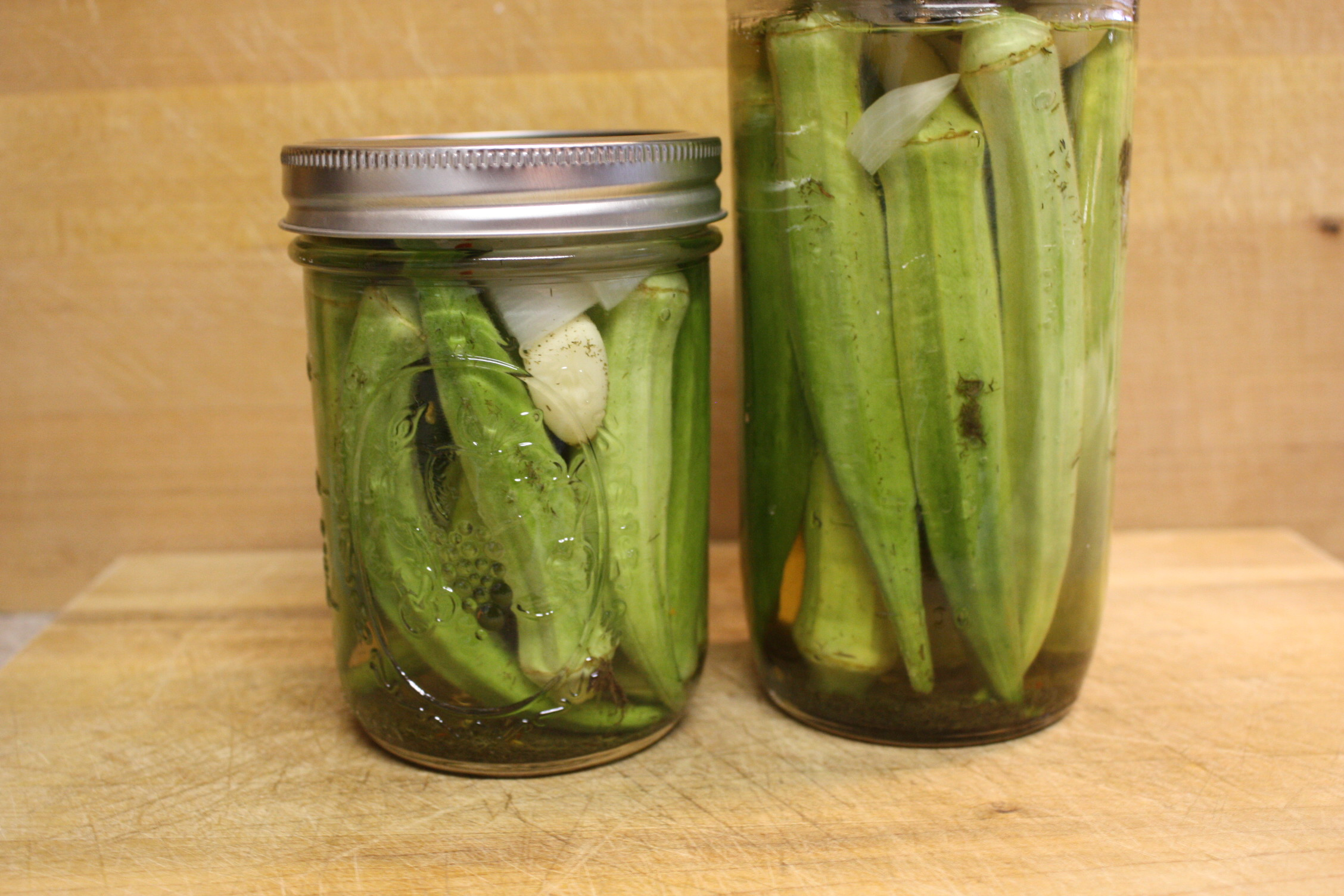 Pickled Okra - Who wants to wait weeks for pickled okra to be ready to consume? Not me! by Don't Sweat The Recipe