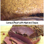 Corned Beef with Mustard Sauce - This corned beef is so flavorful, moist, and tender. #cornedbeef #recipe #mustard #baked #stpatricksday