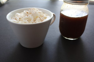 Pumpkin Spice Latte - Stay in your flannel pj's and fuzzy slippers. Make this latte at home and save money!