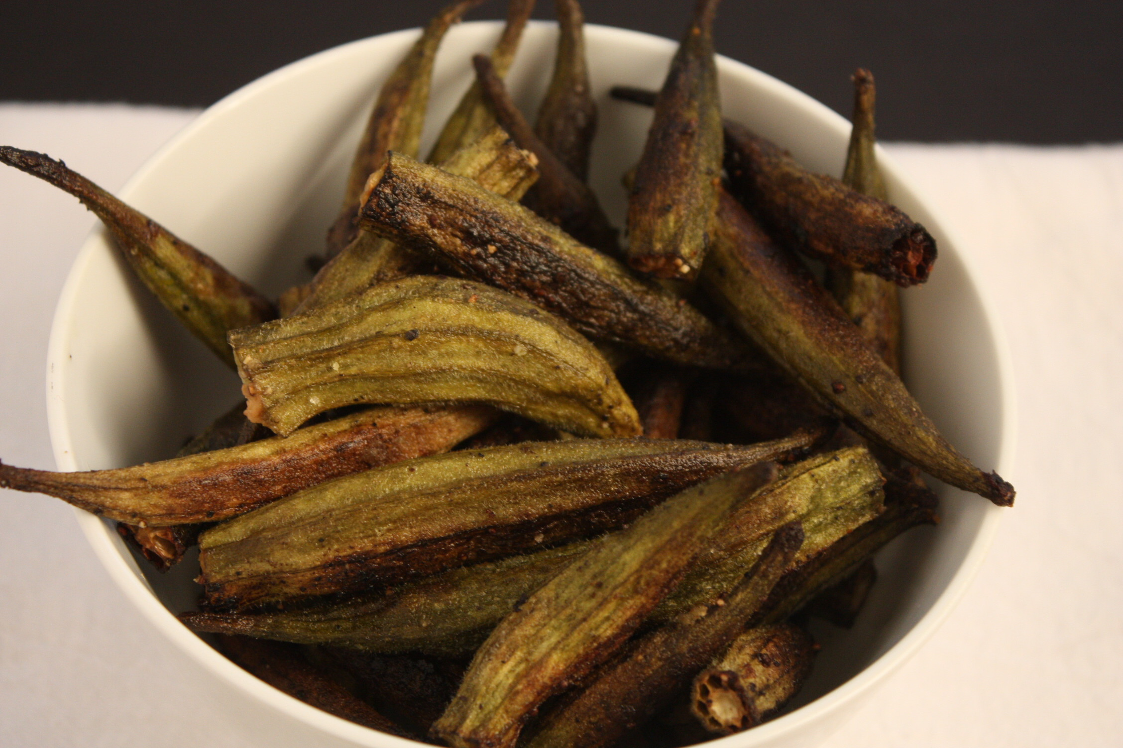 Roasted Okra - This was amazingly delicious! It tastes like fried okra. By Don't Sweat The Recipe
