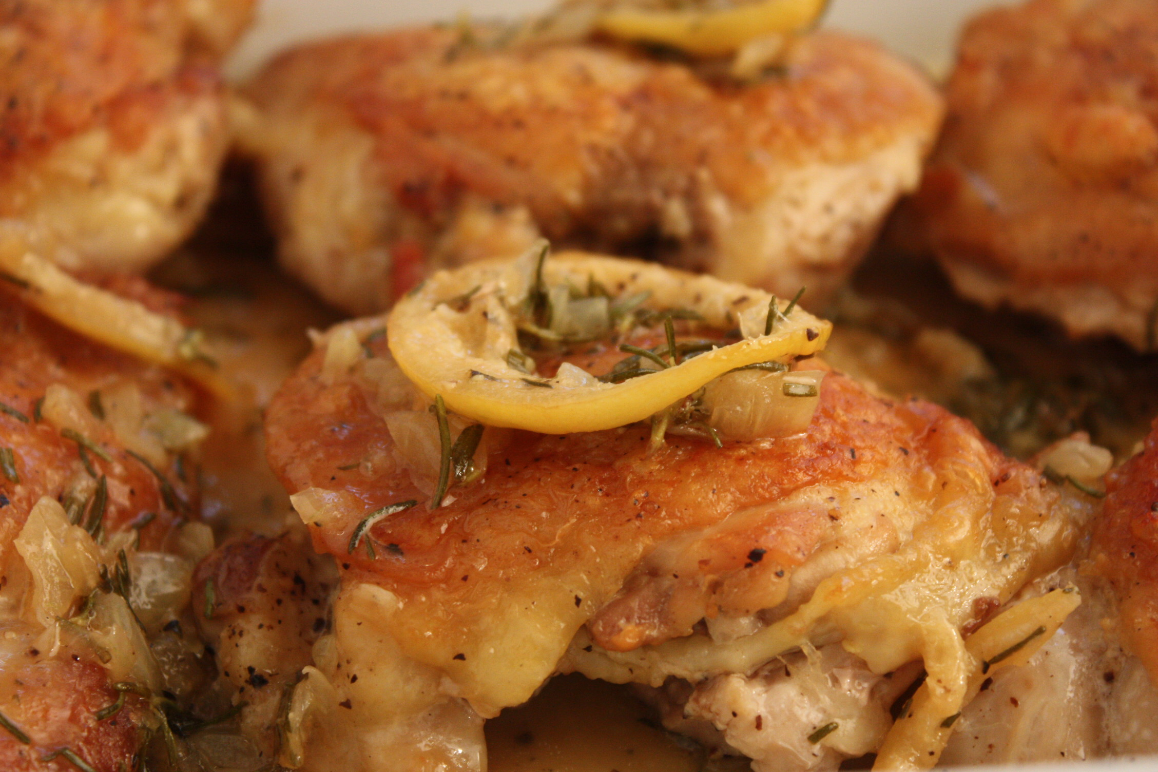 Roasted Chicken Thighs with Rosemary and Lemon - Simple and delicious! by Don't Sweat The Recipe