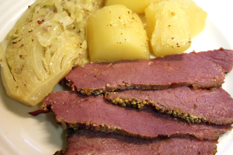Corned Beef with Mustard Sauce. This corned beef is so flavorful, moist and tender. The mustard in this recipe gives it a tasty kick!