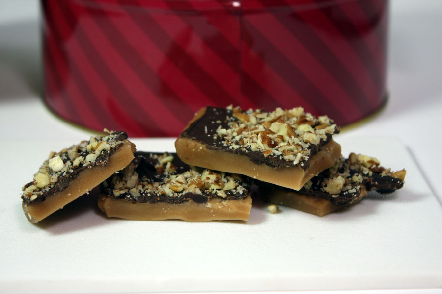 English Toffee - Perfect easy recipe for your Holiday treat trays. by Don't Sweat The Recipe