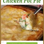 This chicken pot pie is to DIE for! An easy recipe that's elegant enough for dinner guests yet also casual enough for a weeknight meal. #chicken #casserole