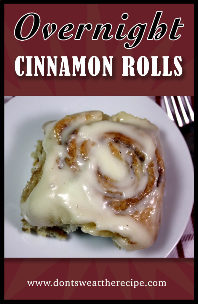 Overnight Cinnamon Rolls - These are so easy to whip up the night before and bake in the morning. by Don't Sweat The Recipe