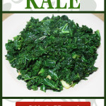 Perfect healthy and easy side dish recipe for any meal. Sauteed kale with garlic is quick-cooking and so full of flavor. You will be converted to the kale side, I promise! #kale #vegan