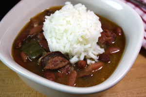 Slow Cooker Red Beans & Rice - SOOO GOOD! You will never consider red beans and rice from a box. by Don't Sweat The Recipe