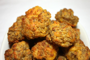 Sausage Balls - 3 ingredients & great tips to make the process faster and easier! by Don't Sweat The Recipe