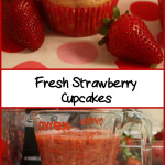 Fresh Strawberry Cupcakes - No jello or food coloring in these cupcakes. Perfect strawberry flavor, moist crumb, topped with strawberry buttercream! #strawberry #dessert #summer #recipe