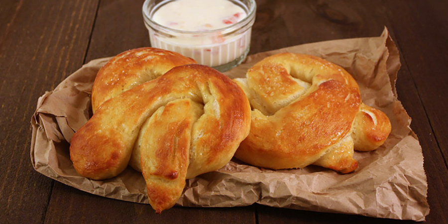 Soft Pretzels - Easy homemade soft pretzels that are soft, chewy, buttery and slightly salty.