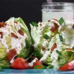Blue Cheese Wedge Salad - The perfect light, crispy and refreshing lunch or dinner.