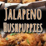 Jalapeno Hushpuppies - These spicy little fried nuggets of cornmeal are the perfect companion to any fried fish! #hushpuppies #recipe #spicy #jalapenos