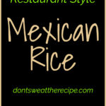 Recreate restaurant-style Mexican rice at home with this easy recipe. My family can't get enough of this dish! #mexican #rice