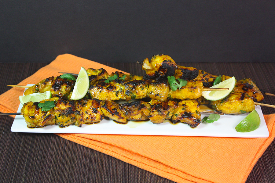 Turmeric Chicken Kabobs - Packed full of flavor and health benefits!