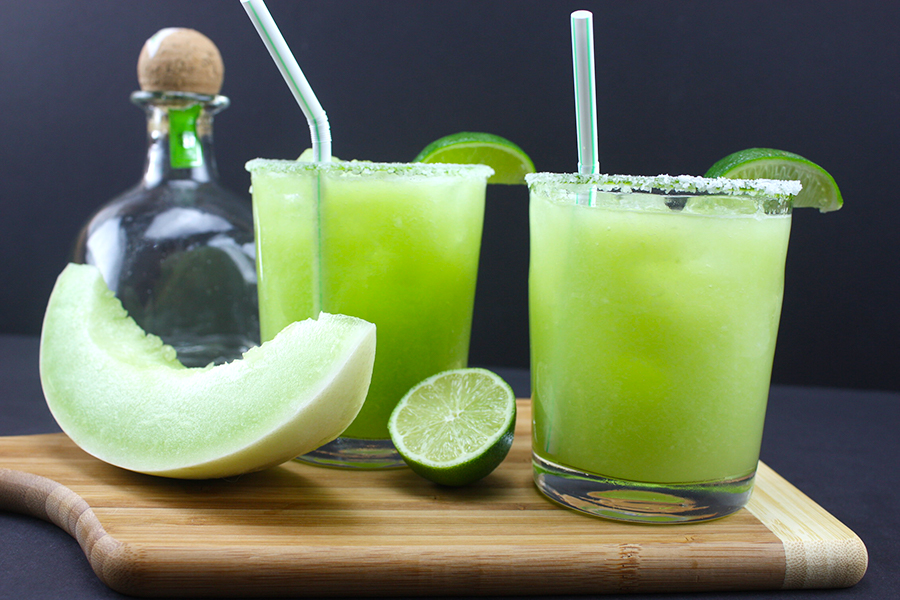 Honeydew Margarita - A fresh, crisp twist on the classic margarita. Perfect for cooling down this summer!
