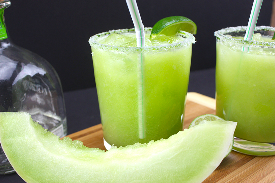 ... lime margarita with a honeydew melon puree. You will cool down in no