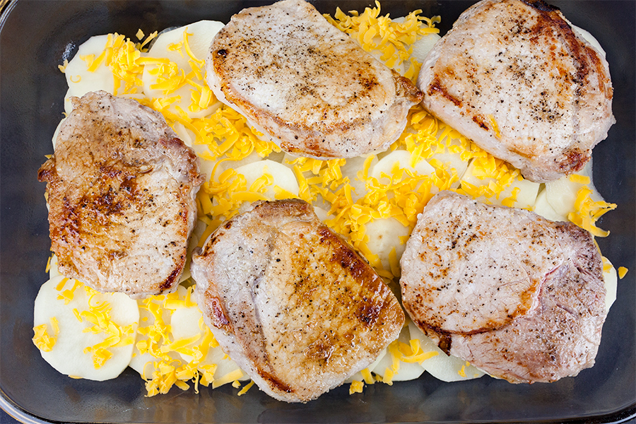 Smothered Pork Chops and Potatoes - Don't Sweat The Recipe