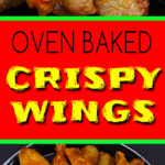 The trick to extra crispy oven baked chicken wings! No more deep frying. #chickenwings #crispy