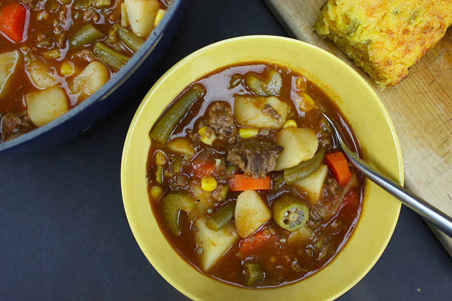 Vegetable Beef Soup - So easy, hearty, healthy and comforting! This is a MUST try recipe!