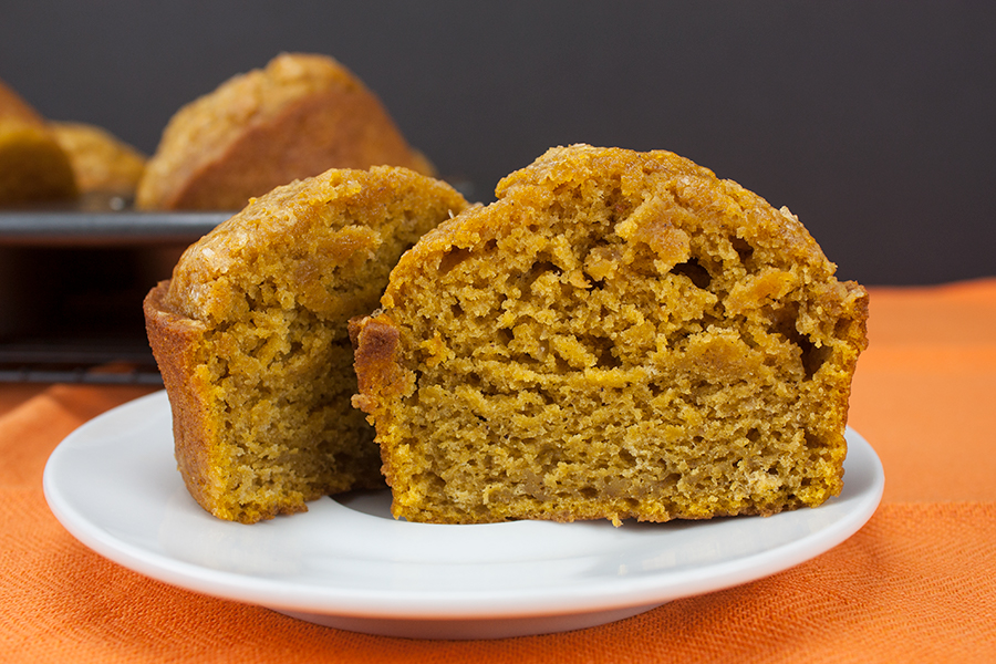 Bakery Style Pumpkin Muffins - These muffins are jumbo, moist, tender and gloriously full of pumpkin flavor. Perfection!