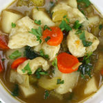 Vegetable Dumpling Soup - This soup is packed with flavor! It screams vegetarian comfort food!