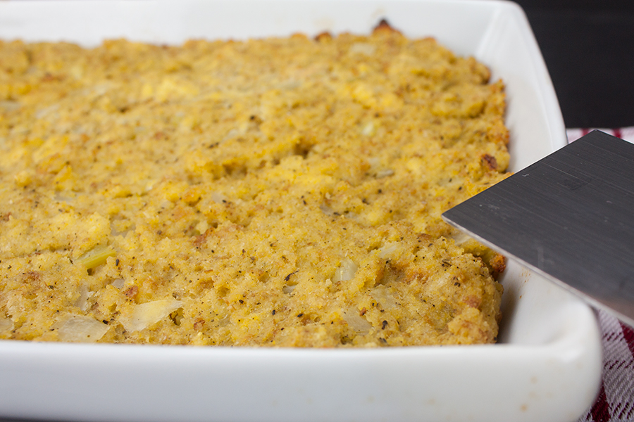 Southern Cornbread Dressing - Our recipe is a must have at the holiday table! Deliciously moist and seasoned perfectly.