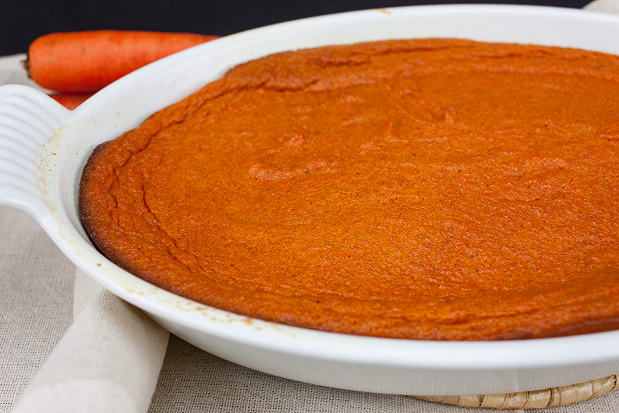 Better than sweet potato casserole any day! This easy recipe for sweet Carrot Souffle is the perfect side dish for any holiday table! #carrot #souffle