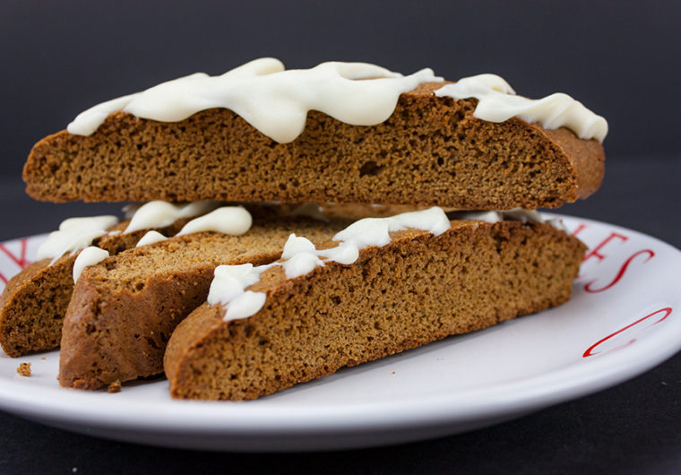 Gingerbread Biscotti - Perfect treats or gifts for the holidays! Loaded with gingerbread flavor and ready to dip in that piping hot coffee.