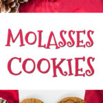 Old Fashioned Rolled Molasses Cookies - Traditional holiday cookie. Slightly crisp outside and chewy tender inside! #christmascookies #christmas #holiday #molasses #recipe #cookieswap