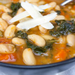 Tuscan White Bean Soup - An easy vegetarian 30-minute meal. So warm, satisfying and healthy!
