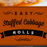 Easy Stuffed Cabbage Rolls - Tender leaves of cabbage stuffed with flavorful seasoned beef and rice, simmered in a rich tomato sauce.