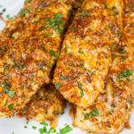Parmesan-Crusted Chicken Tenders - Low carb perfection that is so addictive!