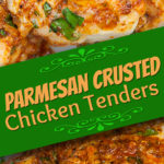 Parmesan-Crusted Chicken Tenders - Low carb perfection that is so addictive! #keto #lowcarb #recipe #chicken #parmesan