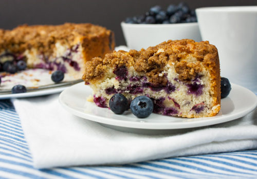 Blueberry Streusel Coffee Cake - Deliciously moist, lightly sweet and a real treat for your morning or afternoon coffee.