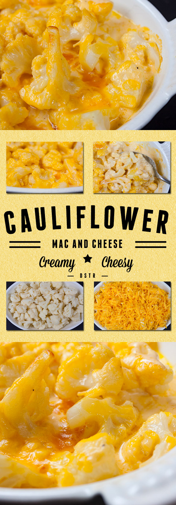 Cauliflower Mac and Cheese - Low carb, keto, creamy, cheesy and decadent! You don't need the pasta! #keto #healthy #cauliflower