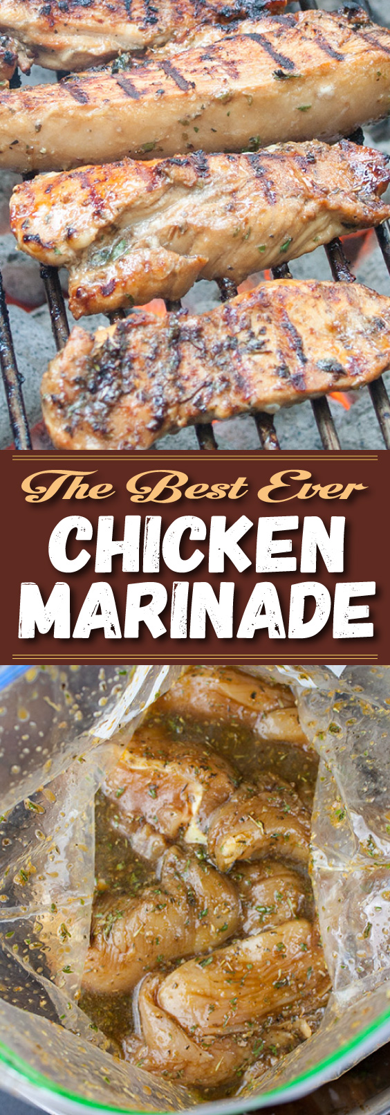 Best Ever Grilled Chicken Marinade - This marinade imparts the ultimate flavor experience and produces a juicy tender piece of grilled chicken. Be sure to add this to your 4th of July menu. #grilling #bbq #4thofJuly #chicken #marinade