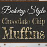 Bakery Style Chocolate Chip Muffins - Slightly crispy edges, fluffy, tender, moist and so tasty!