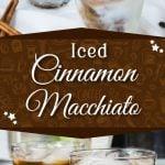 Iced Cinnamon Macchiato - Beat the heat, save money with my copycat version of Starbucks Iced Cinnamon Macchiato! #coffee #iced #summer #cinnamon #recipe
