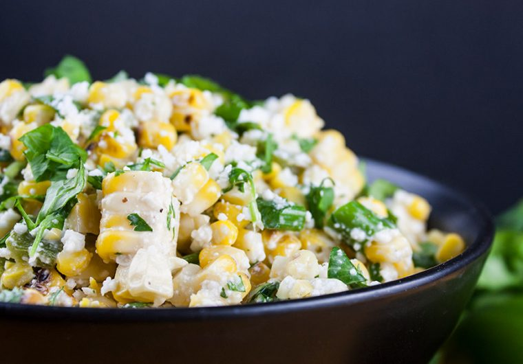 Grilled Mexican Street Corn Salad - A tantalizing combination of sweet, savory, smoky and spicy flavors. Easy to make and even easier to devour!