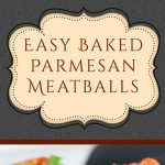 Mouthwatering, tender, juicy, Italian meatballs smothered in goodness! Easy Baked Parmesan Meatballs are a one-pan recipe at it's best! #meatballs #parmesan
