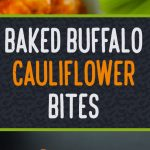 Baked Cauliflower Buffalo Bites - Cauliflower buffalo wings that are crispy on the outside and just tender enough on the inside.The vegetarian buffalo wing! #vegetarian #easy #recipe #fauxwings