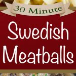 30 Minute Swedish Meatballs - Tender, juicy meatballs smothered in a rich, creamy, flavor-packed gravy! Perfect weeknight meal. #easy #swedishmeatballssauce #recipe #30minute #weeknight