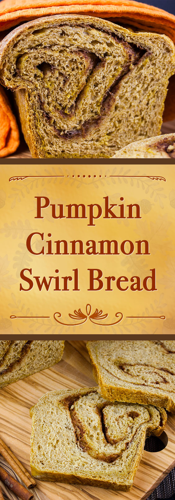 Pumpkin Cinnamon Swirl Bread - Love this bread warm from the oven, toasted slathered with butter and french toast for breakfast! #pumpkin #recipe #fall #holiday