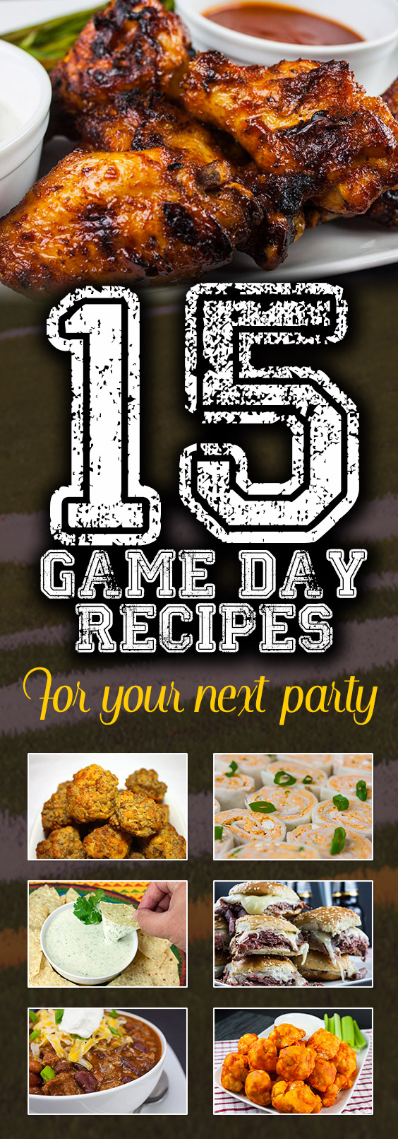 15 Crowd-Pleasing Game Day Recipes For Your Next Party - Have a party happening but not quite sure what to make? Check this out! #recipes #appetizers #gameday #tailgate #tailgateparty #tailgatefood