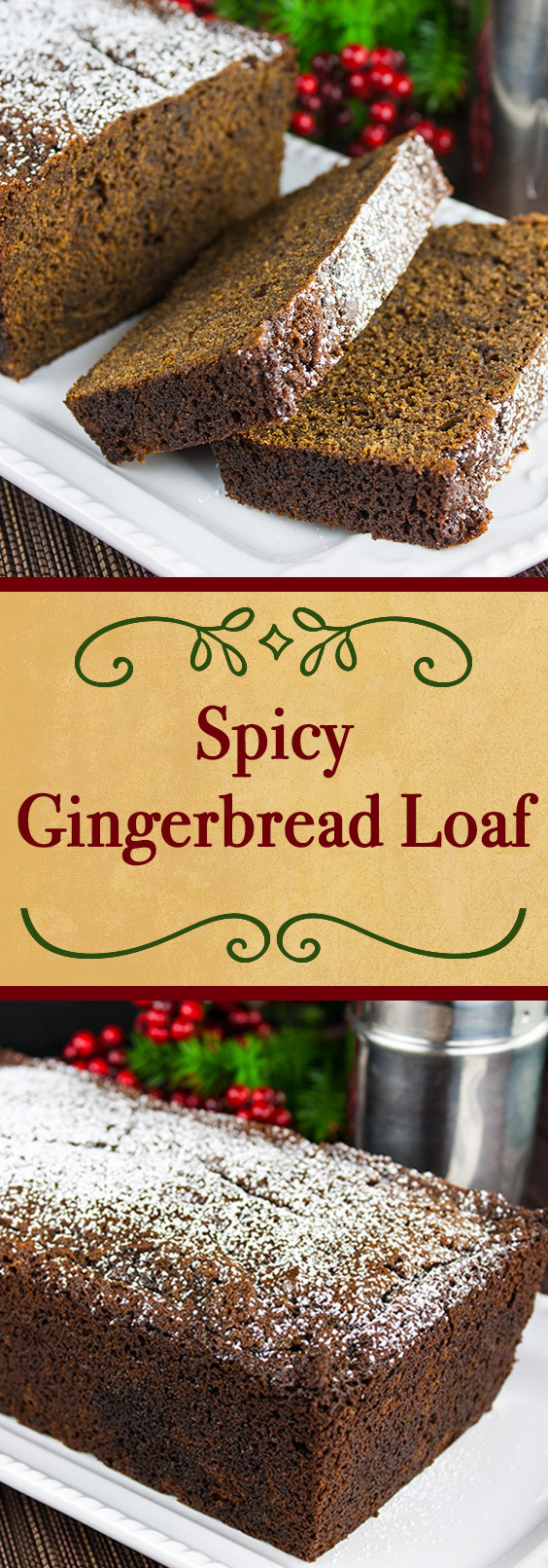 Spicy Gingerbread Loaf - It's not just for the holidays. Moist, slightly sticky, sweet and loaded with spicy goodness. This gingerbread loaf needs nothing more than a nice, piping hot cup of coffee to accompany it. #holidays #christmas #gingerbread #easy #recipe