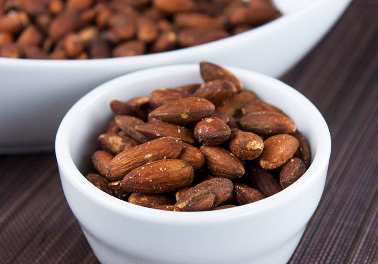 roasted salted almonds recipe easy healthy